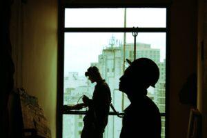 Houston building maintenance technicians working on interior maintenance